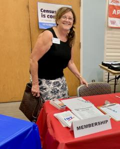 Photo of Rita our current membership chair