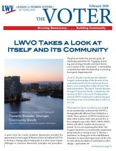 VOTER Newsletter Spring 2020