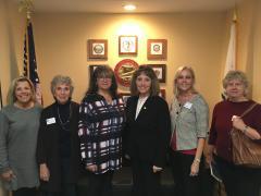 Senator Pat Bates with Five League Members