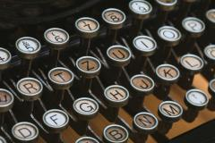 Photo of old typewriter keyboard