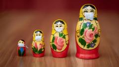 Photo of Russian Nesting Dolls with Masks