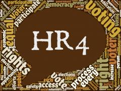 HR4 Voting Rights Advancement Act Speech Bubble