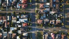 Arial view of neighborhood