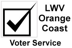 Icon of Vote Box with Check Mark and words Voter Service
