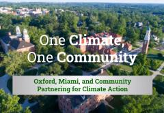 Aerial view of Oxford Ohio and Miami University