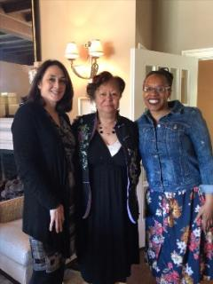 Lateefa Simon with Nancy Beninati and Lois Corrin