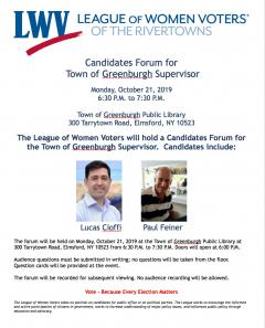 Greenburgh Candidate Forum