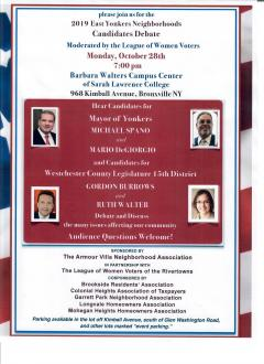 Yonkers Candidate Forum