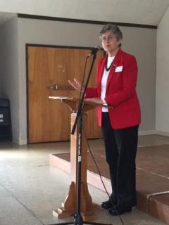 Helen Hutchison, president LWVC