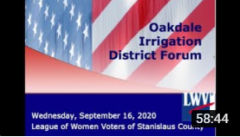 opening frame from YouTube candidate forum for OID