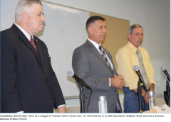 Representative District 20 candidates: John Bucchioni, Stephen Smyk and Harry Smouse.