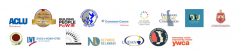 logos of organizations signing letter in support of HB 175