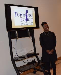 Stacey Burton of Turning Point Suffragist Memorial
