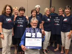 members of the LWVSC with VOTE411 tshirts