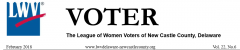 League of Women Voters February edition of The Voter