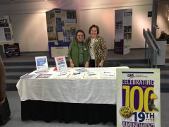LWVSC members man voter registration table at the event