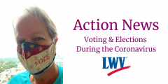 Woman in vote mask