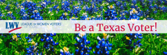 Bluebonnets Be a Texas Voter!