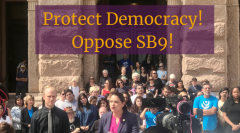 Group gathered at the Texas Capitol in opposition to SB9