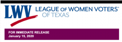 LWV Texas logo with date