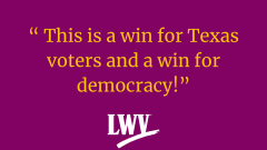 Win for democracy