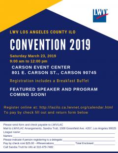 LWVLA 2019  ILO Convention