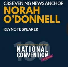 Norah O'Donnell keynote speaker