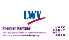 Vote Early with LWV Logo
