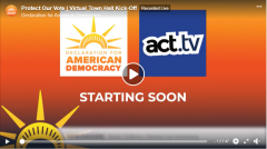 Protect Our Vote Virtual Town Hall video still