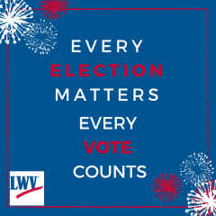 Every Election Matters Every Vote Counts with firework images