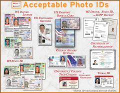 Wisconsin Acceptable Photo IDs