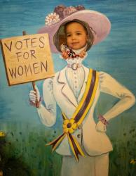Future voter appreciates women's right to vote
