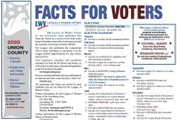 Lewisburg Area Facts for Voters Spring 2020