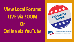 LWVCS 2020 Candidate Forums Online