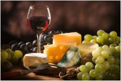 stock photo, wine glass, cheese, grapes