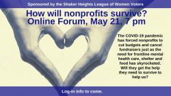 Forum on Nonprofit Survival during pandemic