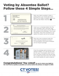 Absentee Ballot Four Step Guide image
