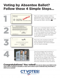 Absentee Ballot Instructions 4 steps General Election