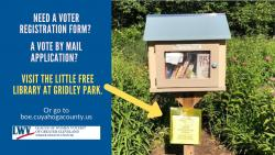 Shaker Little Free Library Voter Info Station