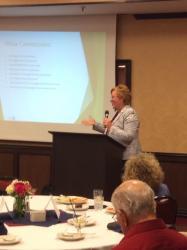 Photo of Denah Hoard speaking