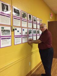 Member Bill Lieshoff mounts Suffragist timeline