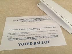 Voted Absentee Ballot