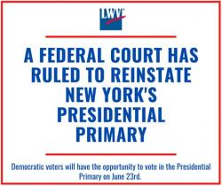 Presidential primary reinstated