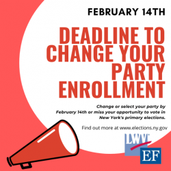 Change your party enrollment deadline