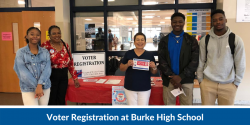 Voter Registration Drive at Burke High School Hosted by LWV Charleston Area
