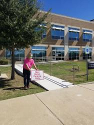 picture of accessible ramp to Elections Office