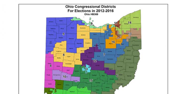 Ohio Gerrymandered Districts 2012 Map