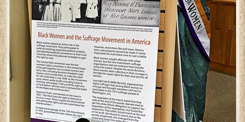 Liberty Awakes exhibit LWV Ann Arbor Area