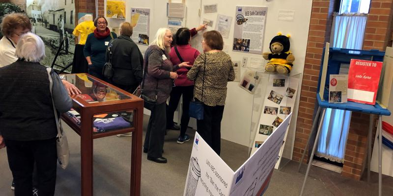 Celebrating 100 exhibit at Anoka County Historical Society