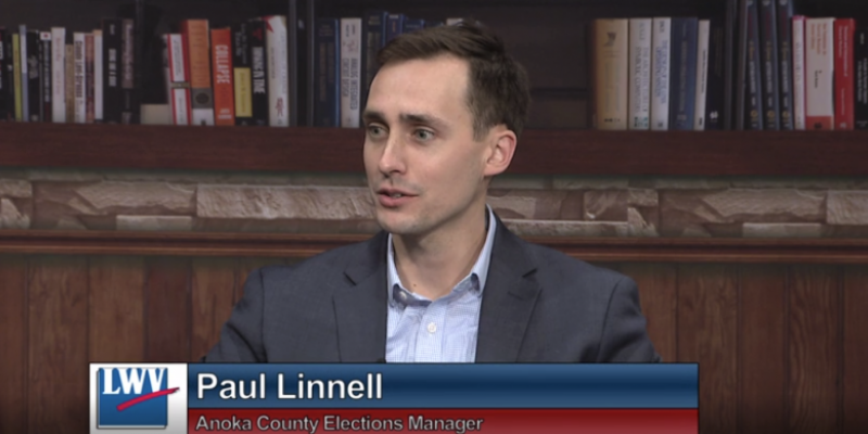 Paul Linnell, Anoka County Elections Manager